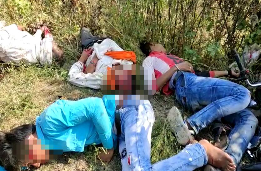 Breaking news : आपस में टकराई दो मोटरसाइकिल दो की मौके पर मौत, देखें वीडियो