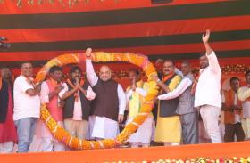 झारखंड के चुनावी रण में 'शाह' की एंट्री, विपक्षी दलों पर जमकर बरसे
