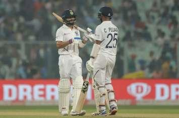 डे-नाइट टेस्ट : पहले ही दिन भारत ने बांग्लादेश पर ली 68 रनों की बढ़त, विराट-पुजारा का अर्धशतक