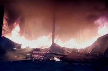 तिब्बती शरणार्थियों की दुकानों में लगी आग, लाखों के गर्म कपडे जलकर राख