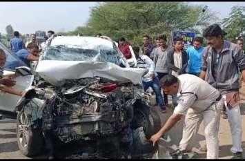Breaking : अमावस्या पर ओंकारेश्वर आ रहे गुजरात के परिवार की कार डंपर में घुसी, दो की दर्दनाक मौत, देखें VIDEO