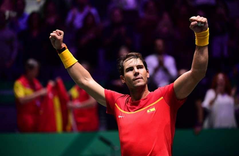 नडाल के नेतृत्व में स्पेन ने छठवीं बार जीता डेविस कप का खिताब, फाइनल में कनाडा को दी मात