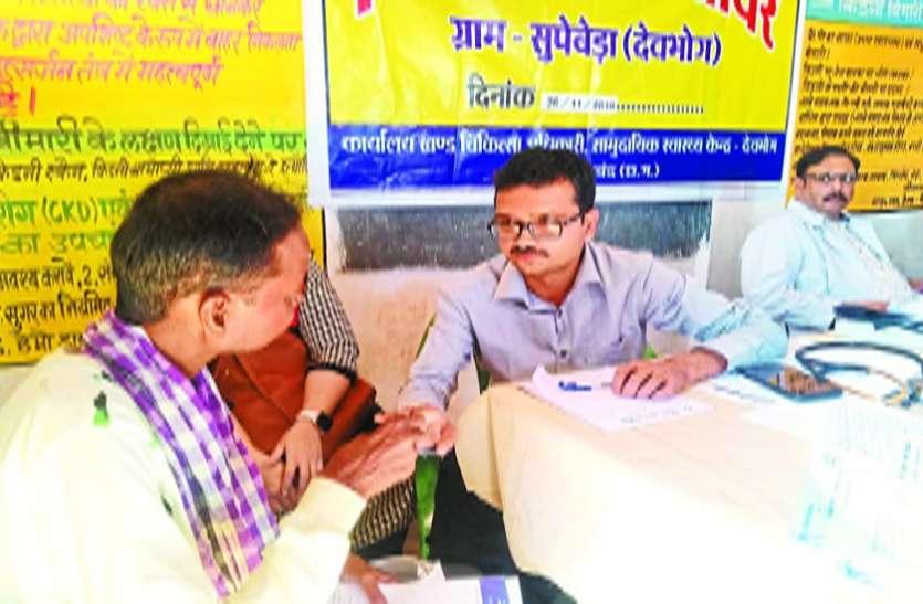 सुपेबेड़ा में किडनी पीडि़तों ने शिविर में नहीं दिखाई रुचि
