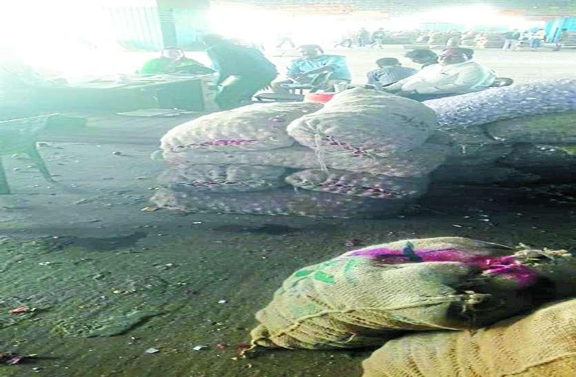 जमाखोरी: तीन थोक व्यापारियों से 145 क्विंटल प्याज जब्त की