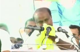 चुनाव सभा में क्यों रो पड़े कर्नाटक के पूर्व मुख्यमंत्री कुमारस्वामी