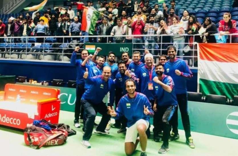 डेविस कप: भारत ने पाकिस्तान पर बनाई 3-0 की अजेय बढ़त,  पेस ने जीता 44वां डबल्स