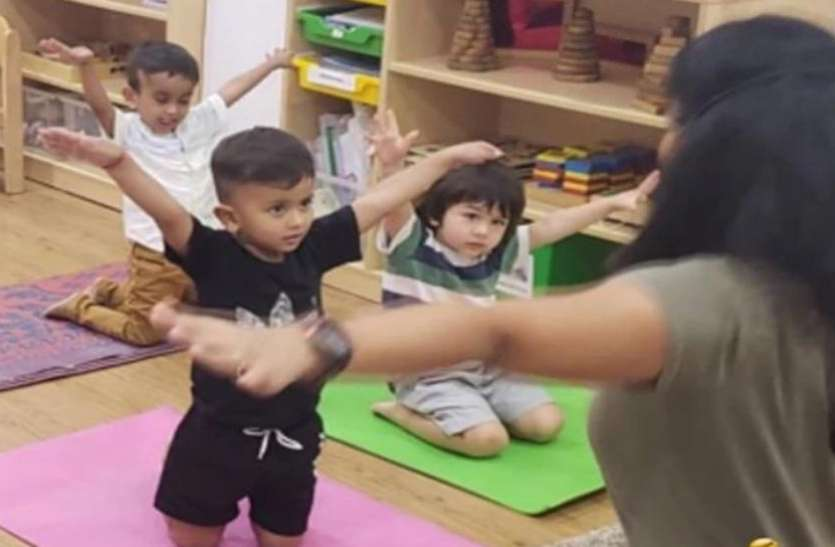 Viral: योगा करते हुए दिखाई दिए तैमूर अली खान, तस्वीरों में दिखे इतने क्यूट की आपकी नज़रे ना हटें