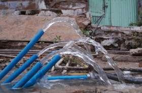 Kishangarh: सड़कों पर बहता रहा पानी, ठेकेदार ने नहीं लगाए मीटर