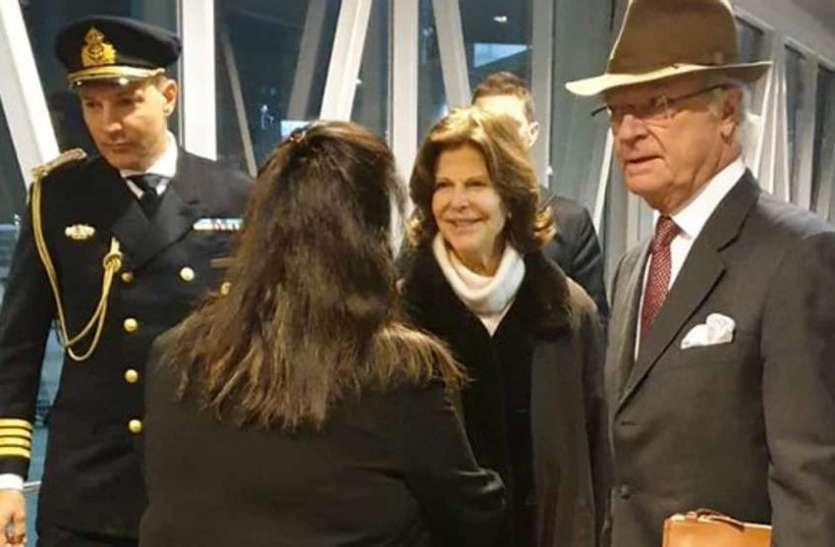 भारत पहुंचे स्वीडन के राजा-रानी, एयरपोर्ट पर कर दिया ये काम..