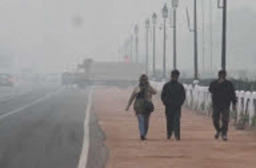लुढ़क रहा तापमान, दिल्ली में सीजन का सबसे ठंडा दिन
