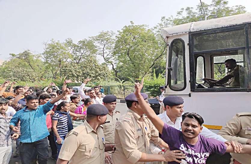 गैर सचिवालय कर्मचारी भर्ती परीक्षा मामला,विद्यार्थियों का हल्लाबोल
