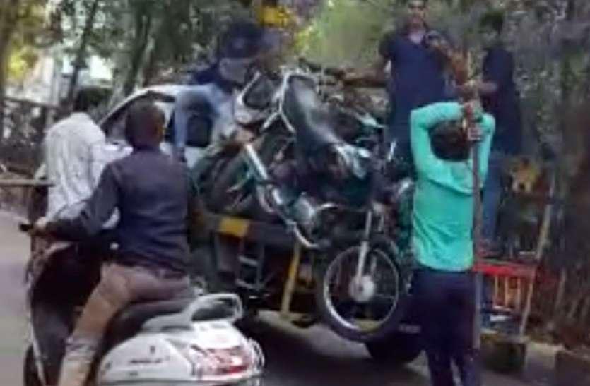 VIDEO NEWS : सूरत में बाइक टो करने के बाद हुई क्रेन कर्मी की ये दशा.. जानकर दंग रह जाएगें