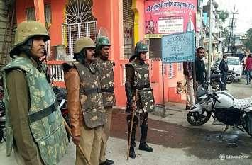 सुरक्षा के पुख्ता इंतजाम, चप्पे-चप्पे पर पुलिस