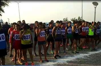 उदयपुर की फतहसागर पाल पर हुई ऑल इंडिया रेलवे की क्रॉस कंट्री, 100 खिलाड़ियों ने लिया भाग