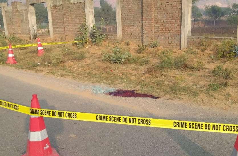 अजमेर बाईपास सड़क किनारे युवक का शव मिला, सिर में दायीं ओर गोली का निशान