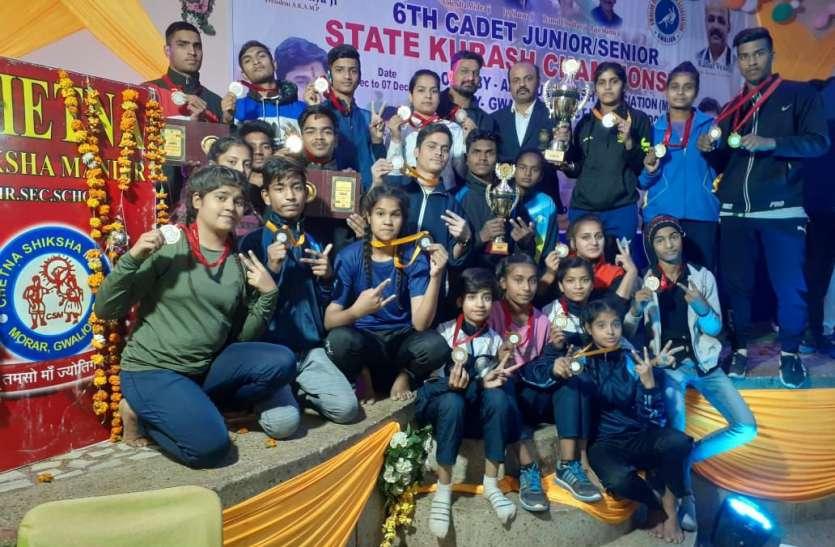 शिवपुरी के खिलाडिय़ों ने जीते 16 गोल्ड, 2 सिल्वर व 8 ब्रांज मेडल