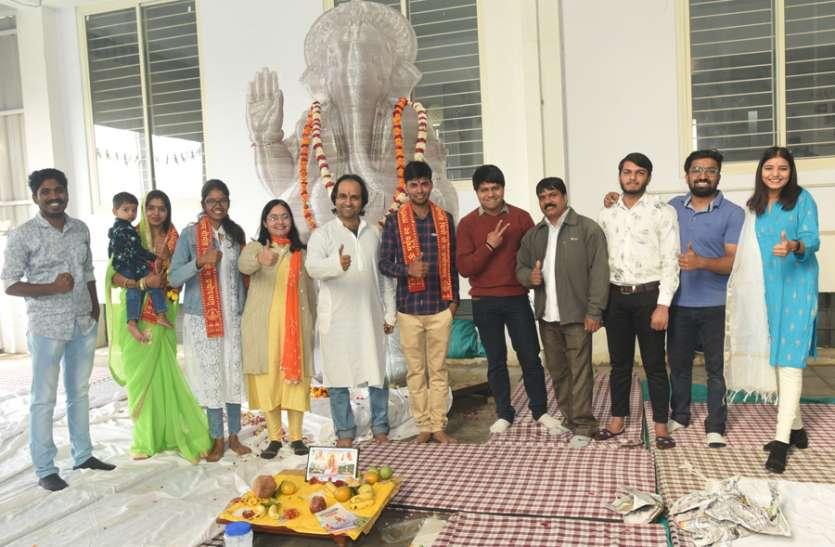 गणपति की जयपुर में बनी विश्व की पहली थ्रीडी प्रतिमा, मुंंबई की एक्जीबिशन में लगेगी