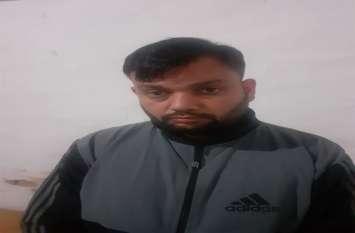 दो करोड़ की लूट के मामले में आरोपी को भदेसर लेकर पहुंची पुलिस