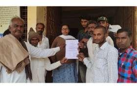 गांव डाबरी के ग्रामीणों ने ज्ञापन सौंपकर आंदोलन की दी चेतावनी
