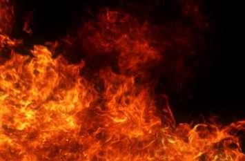 छप्परपोश घरों में आग, झुलसने से आठ मवेशियों की मौत