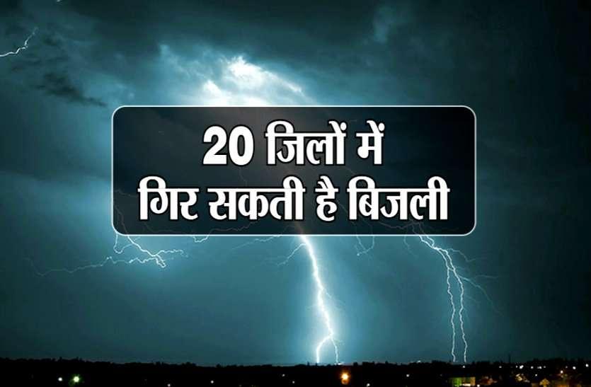 Weather Alert-भारी बारिश के बाद अब 20 जिलों में बिजली गिरने का खतरा