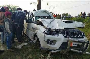 भाजपा सांसद प्रतिनिधि की कार पलटी, दो की मौत
