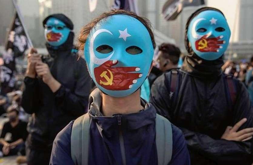 हांगकांग आंदोलनकारियों की उइगर मुस्लिमों के समर्थन में रैली, चीन के लिए बढ़ी मुसीबत