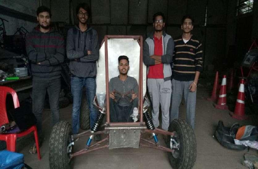 ई-बाहा कॉम्पीटिशन में दौड़ेगी मैनिट स्टूडेंट्स की बनाई रेसिंग कार