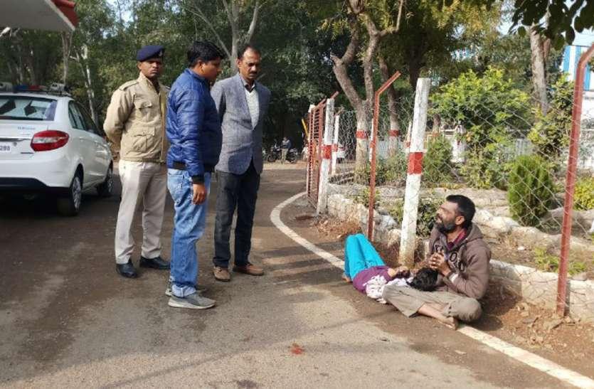 एएसपी ने मिलने आई नि:शक्त को इलाज कराने भेजा अस्पताल