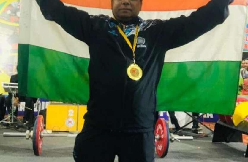 बीदर के डॉ. प्रदीप को वेट लिफ्टिंग में स्वर्ण पदक