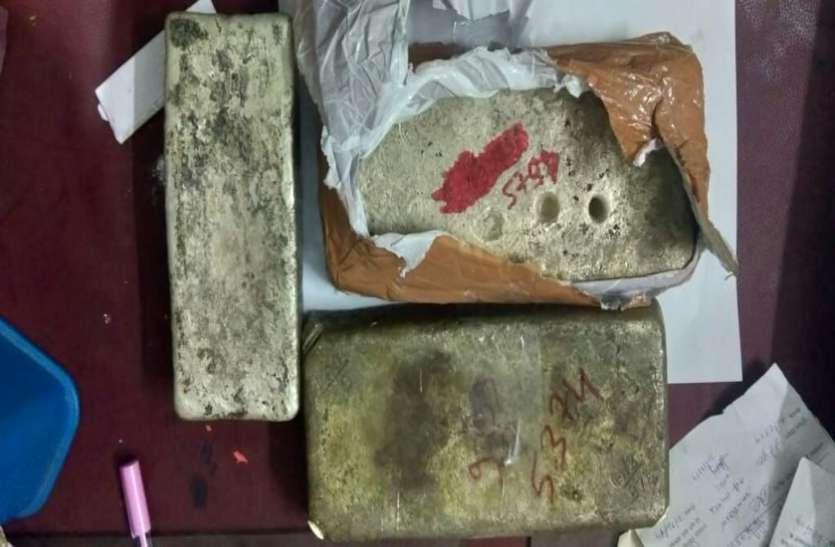 23 किलो 400 ग्राम चांदी, 348 ग्राम सोने की डिलेवरी देने मुंबई जा रहे युवकों को पुलिस ने दबोचा