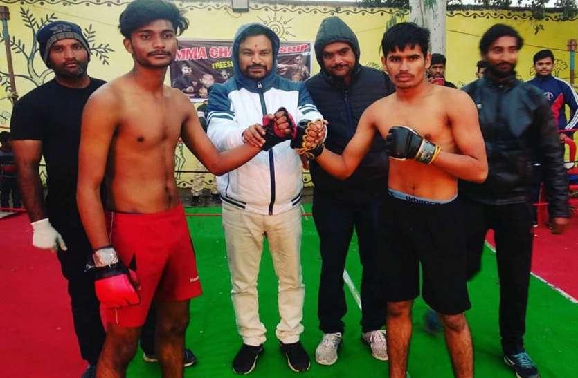 प्रशांत और प्रियंका ने जीते मार्शल आर्ट फाइट के मुकाबले