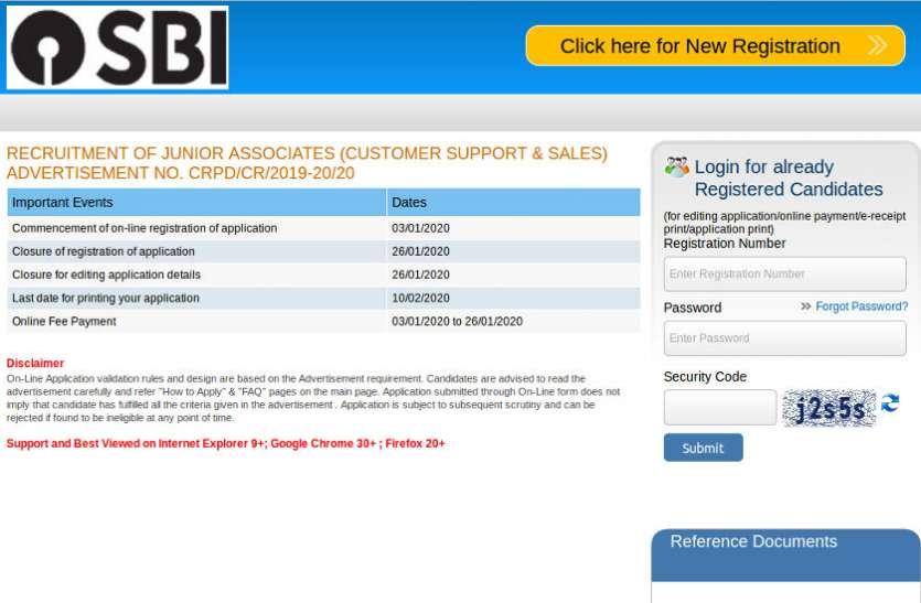 SBI Clerk Recruitment 2020 Notification: एसबीआई ने जारी किया क्लर्क भर्ती का नोटिफिकेशन, यहां पढ़ें