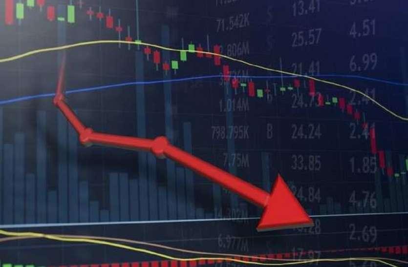 वैश्विक कारणों से शेयर बाजार गिरावट, सेंसेक्स 100 अंकों से ज्यादा लुढ़का, निफ्टी 12250 से नीचे
