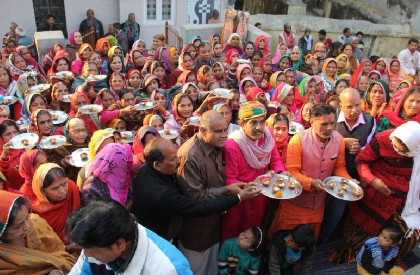 लक्ष्मीनाथ मंदिर में मनाया पौषबड़ा महोत्सव