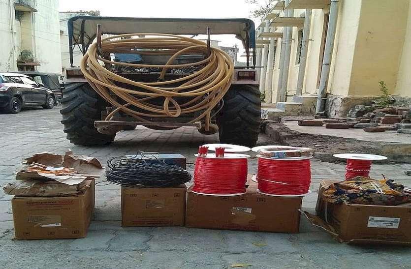 अवैध विस्फोटक सामग्री जब्त ,जिला विशेष टीम  की कार्रवाई