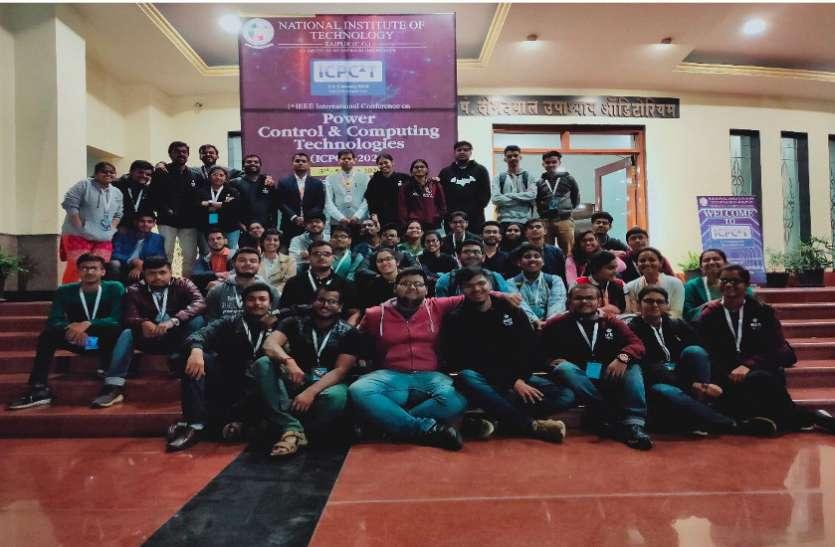एनआईटी द्वारा आयोजित अंतरराष्ट्रीय सम्मेलन का समापन, राजशेखर को मिला बेस्ट टॉपर अवार्ड