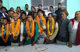 संस्कृत विश्वविद्यालय छात्रसंघ चुनाव में NSUI का  पैनल जीता, ABVP को झटका