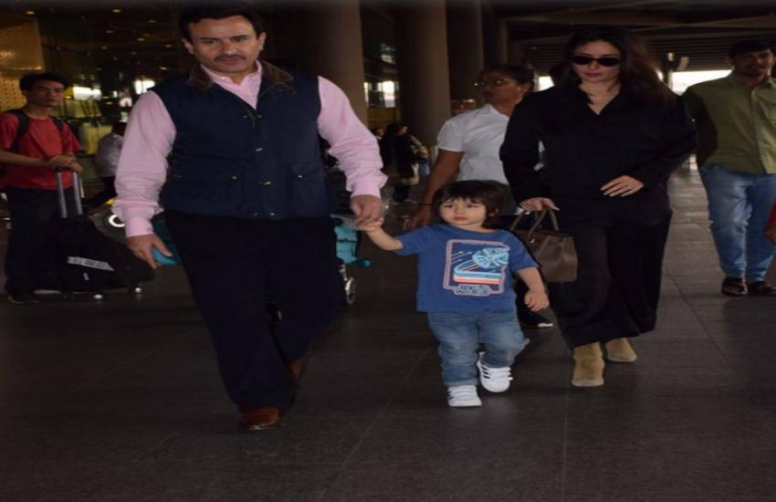 Kareena Kapoor Khan, Saif Ali Khan and Taimur Ali Khan are back in town