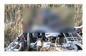 आधी रात एक्सीडेंट के बाद खेत में बेहोश पड़ा रहा युवक, कड़ाके की ठंड से हुई मौत