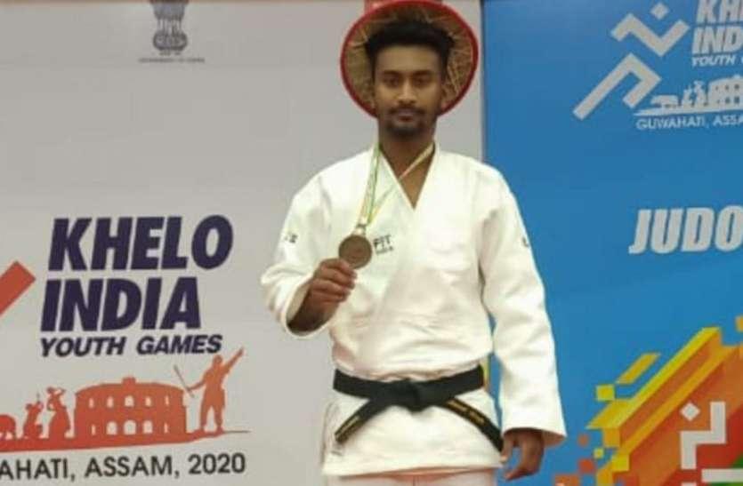 यूथ गेम्स 2020: छत्तीसगढ़ के जूडो खिलाड़ी अनमोल सिंह ने जीता कांस्य पदक