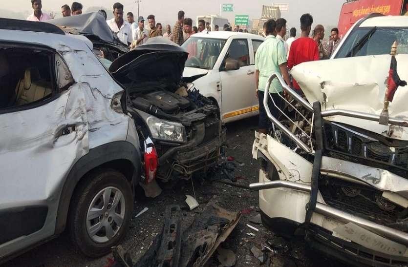 चेन्नई-वेलूर राष्ट्रीय रेाजमार्ग पर धुंध से घटी दृश्यता, दस वाहन आपस में टकराए