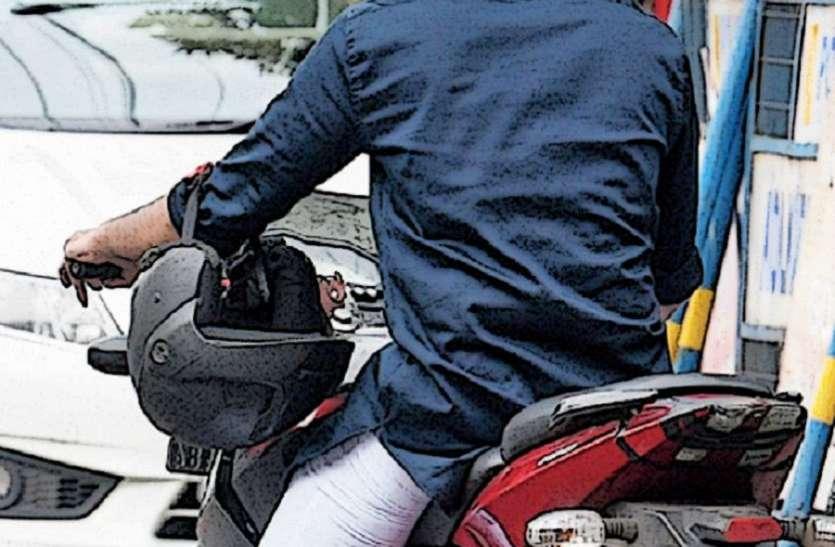 सड़क सुरक्षा जागरुकता प्रोग्राम के तहत बाइक चालकों को किया जागरूक