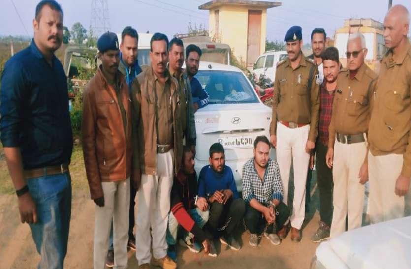 घटना को अंजाम देने के लिए योजना बना रहे तीन बदमाश पकड़ाए
