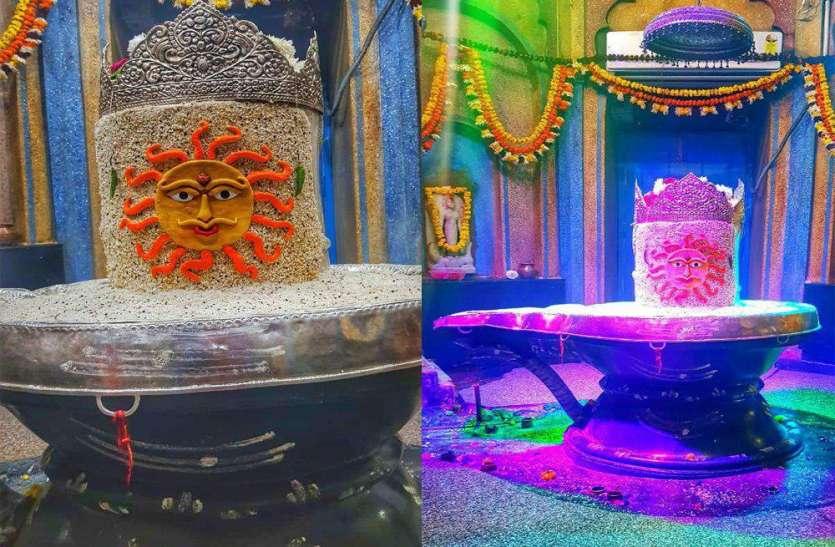 मकर संक्रति की पूर्व संध्या हुआ मनकामेश्वर मठ-मंदिर में भव्य श्रृंगार
