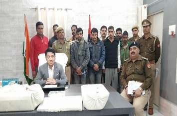 यूपी बिहार बॉर्डर पर चल रहा था फर्जी परिवहन कार्यालय, अवैध सरकारी दस्तावेज के साथ चार गिरफ्तार