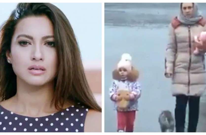 गौहर खान ने शेयर किया वीडियो, बच्चे और महिला के पीछे आई बिल्ली और किया खतरनाक स्टंट.. Video हो गया Viral