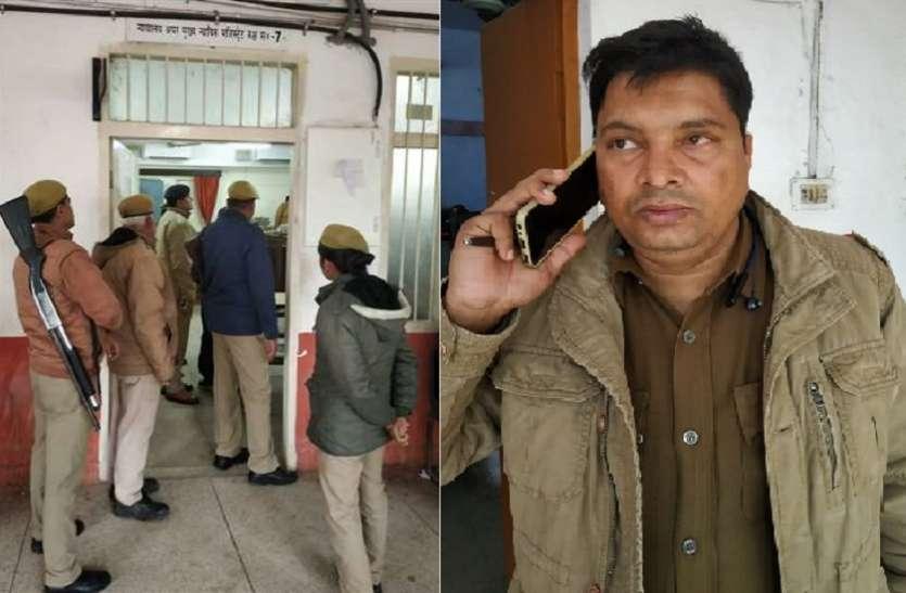 बयान दर्ज कराने आए दरोगा को सीजीएम कोर्ट में वकीलों ने जमकर पीटा, फोर्स ने बचाई जान