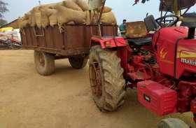 समर्थन मूल्य पर सेकडों किसान नही बेंच पाए धान