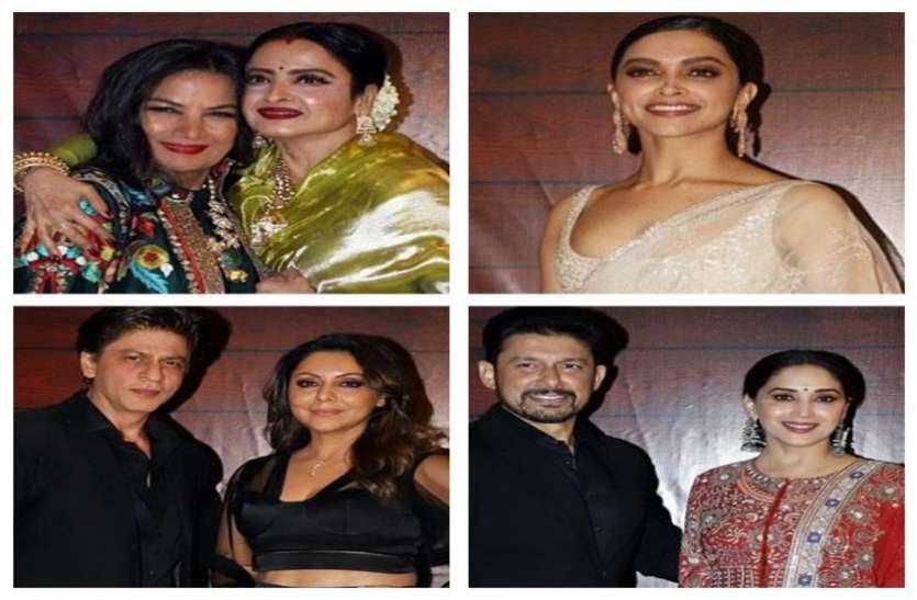 जावेद अख्तर की बर्थडे पार्टी में रेखा दिखीं बलां की खूबसूरत, शाहरुख से लेकर अंबानी परिवार पहुंचा.. देखें तस्वीरें